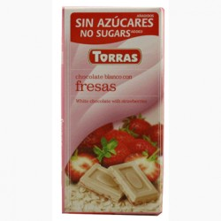 CHOCOLATE BLANCO CON FRESA, TORRAS