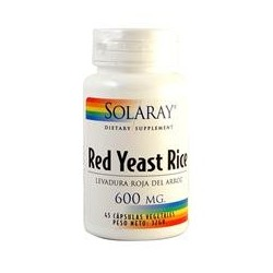 RED YEAST RICE, 45 Capsulas, SOLARAY