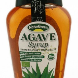 SIROPE DE AGAVE, NATURGREEN, 360 ml.