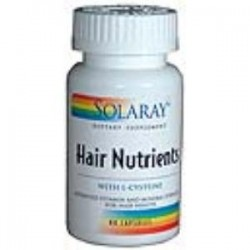 HAIR NUTRIENTS 60 CAPSULAS,SOLARAY