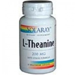 L-THEANINE 200mg. 45 CAPSULAS,SOLARAY