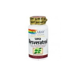 SUPER RESVERATROL 250mg. 30 CAPSULAS,SOLARAY