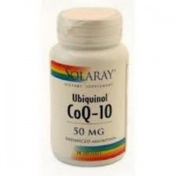 UBIQUINOL CoQ10 50mg. 30 PERLAS,SOLARAY