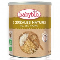 PAPILLA 3 CEREALES NATURE, BABYBIO