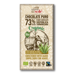 CHOCOLATE NEGRO 73%  CON AGAVE CHOCOLATES SOLE