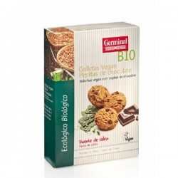 GALLETAS VEGAN PEPITAS DE CHOCOLATE BIO  , GERMINAL