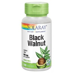BLACK WALNUT HULL (nogal negro) 100 CAPSULAS,SOLARAY