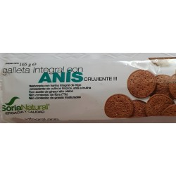 GALLETA  INTEGRAL CON ANIS CRUJIENTE , SORIA NATURAL