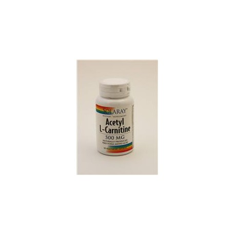 ACETIL CARNITINA 500MG 30CAP SOLARAY