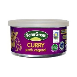 PATE CURRY, NATURGREEN, tarrina 125g.