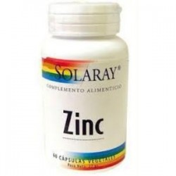 ZINC 15mg. 60 CAPSULAS,SOLARAY